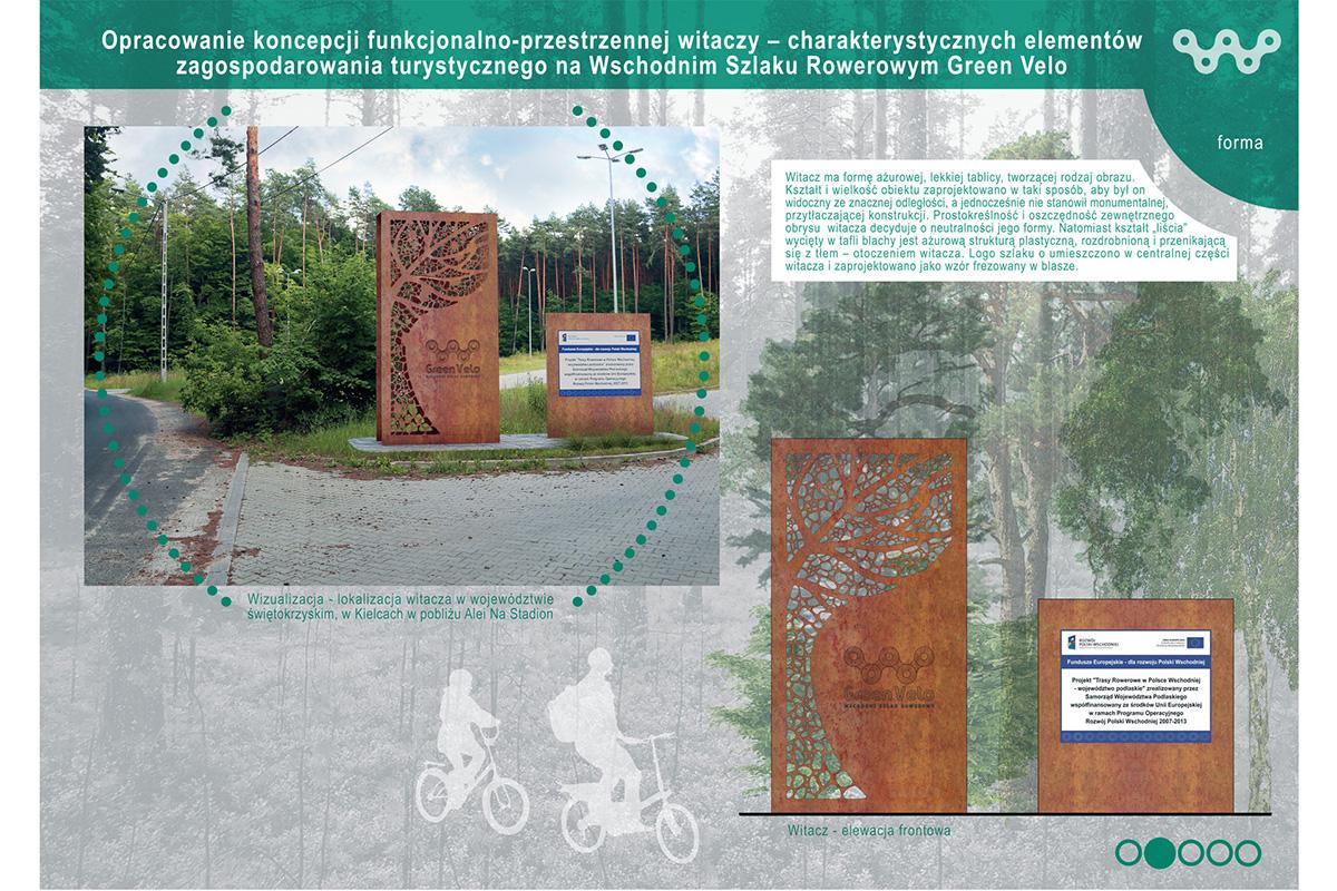 model oznakowania szlaku green velo