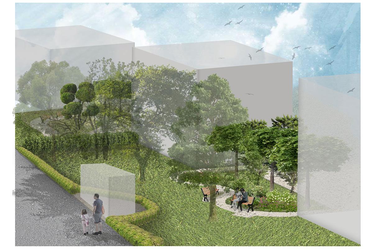 wizualizacja zagospodarowania terenu