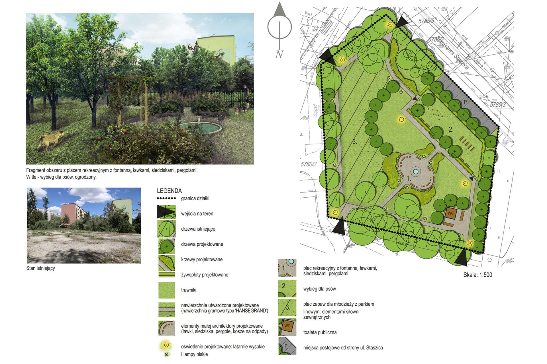 Kompleksowe zagospodarowanie obszarów zielonych w Staszówie