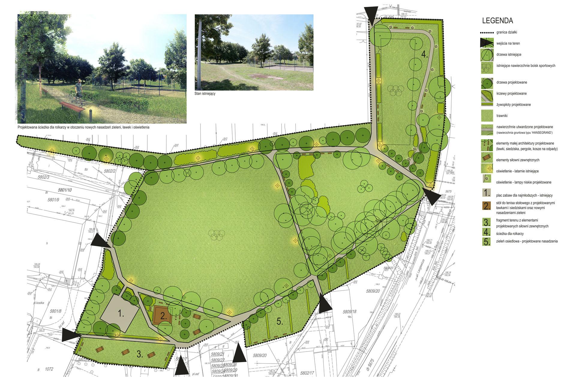 Projekt terenów zielonych