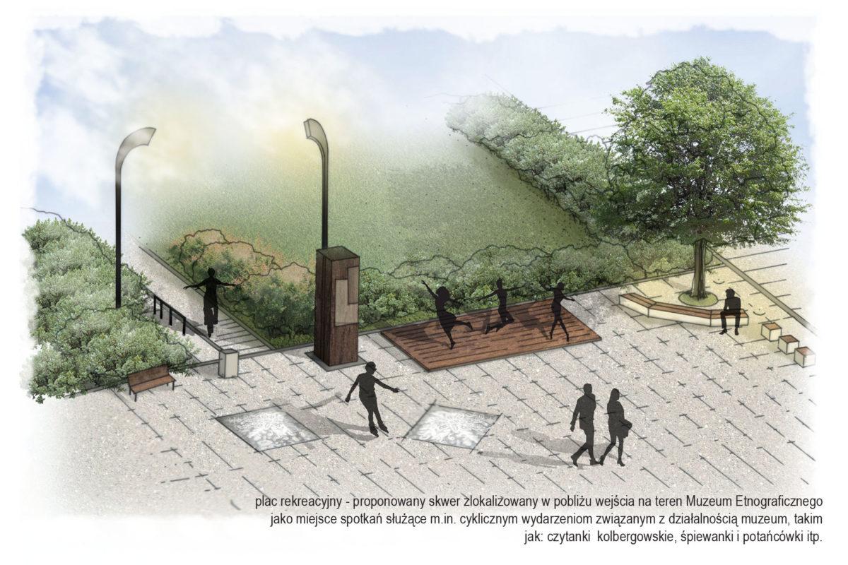Zagospodarowanie terenów zieleni w otoczeniu Muzeum