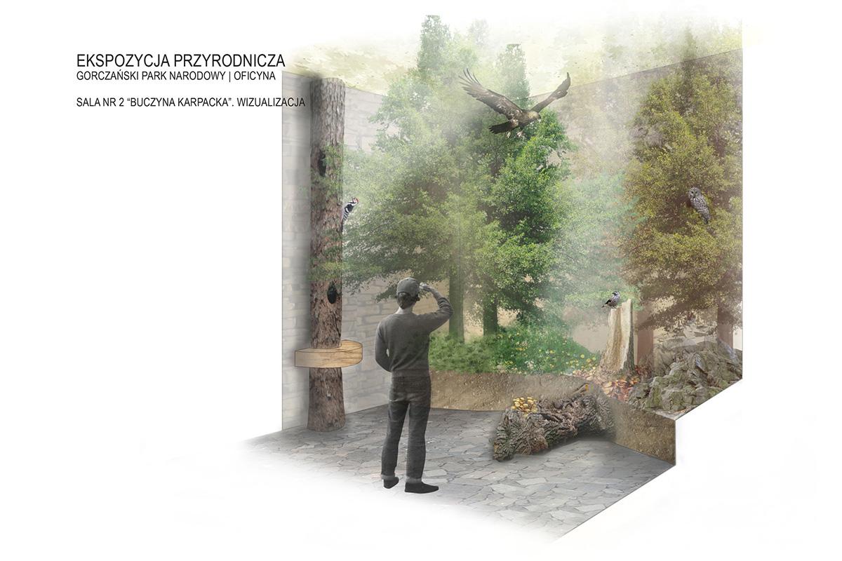 Ekspozycja przyrodnicza wizualizacja